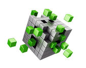 Assembling cube structure — Stock Photo
