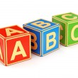 Colorful ABC cubes — Stock Photo #50573423