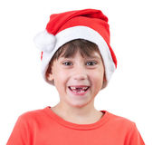 Girl in a cap of Santa Claus — Stock Photo