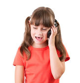 Little girl talking on the phone — Stock Photo