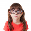Little girl in round spectacles — Stock Photo #15479287