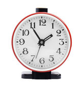 Red round alarm clock — Stock Photo