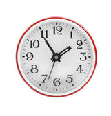 Wall clock in red — Stock Photo
