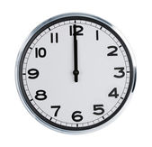 Wall clock show the twelve o — Foto Stock
