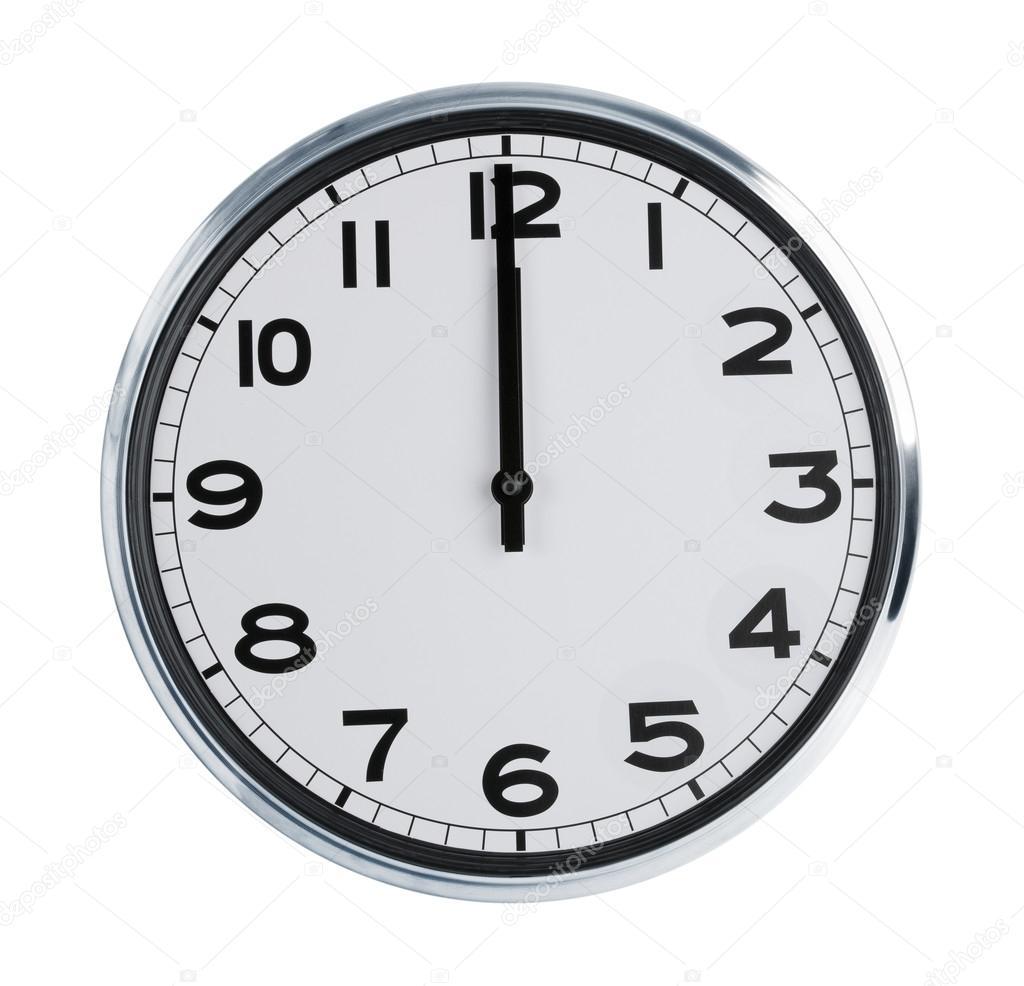 Reloj de pared muestran los doce o fotos de stock - Reloj pintado en la pared ...