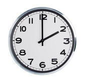 Wall clock shows the time — Stock Photo