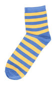 Blue socks with yellow stripes — Stock Photo