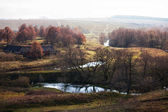 Autumn landscape with the river — Stock Photo