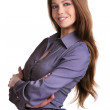 Cute long-haired young woman — Stock Photo