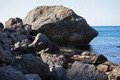 Stone has broken away from the mountain — Stock Photo