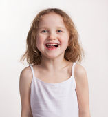 Lovely happy little girl — Stock Photo