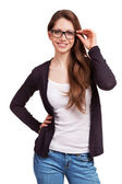 Friendly girl with glasses — Stock Photo