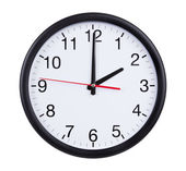 Office clock is exactly two hours — Stock Photo
