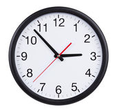 Office clock is exactly three hours — 图库照片