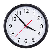 Office clock shows five minutes to four — Foto Stock