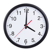 Office clock shows exactly four o'clock — Stock Photo