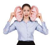 Bang schattig meisje met grote oren — Stockfoto