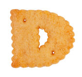 """Tasty cookies in the form of the letter """"d"""" — Stock Photo"""