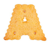 """Tasty cookies in the form of the letter """"a"""" — Stock Photo"""