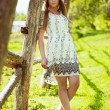Beautiful girl in a summer dress — Stock Photo