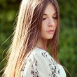 Beautiful long-haired girl — Stock Photo #25981251