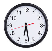 Round clock shows half of the seventh — Foto Stock