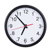 Office clock shows almost seven o'clock — 图库照片