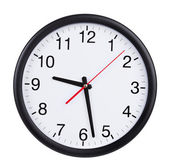 Office clock shows half past nine — 图库照片