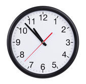 Five to eleven on a clock face — Stock Photo