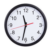 Half past eleven on a clock face — Stock Photo