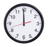 Twelve o'clock on the dial clock — Stock Photo