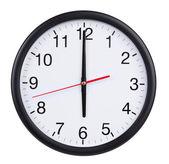 Six o'clock on the dial clock — Stock Photo
