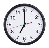 Seven o'clock on the dial clock — Stock Photo
