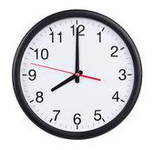 Eight o'clock on the dial clock — Stock Photo
