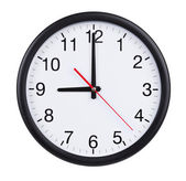 Nine hours on a clock face — Stock Photo