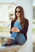 Stylish young woman in glasses — Stock Photo