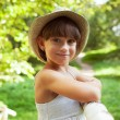 Stock Photo: Cheerful smiling girl in hat
