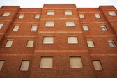 Multi-storey residential building of red brick — Stock Photo