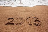 2013 écrit dans le sable — Photo