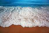 Blue sea with waves and coast — Stock Photo
