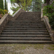 Old stone stairs in the park — Stock Photo