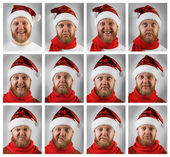 Santa Claus with different emotions — Stock Photo