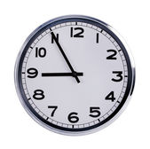 Office clock shows five to nine — Foto Stock