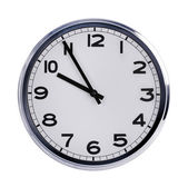Round office clock shows ten o'clock — Stock Photo
