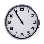 Large clock shows five minutes to eleven — Stock Photo