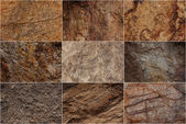Stone surfaces with different textures — Stock Photo