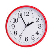 Five to two on a round clock face — Stock Photo