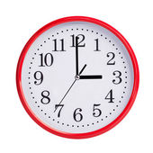 Exactly three on round clock face — Stock Photo