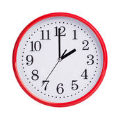 Exactly two on round clock face — Stock Photo