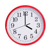 Exactly four on round clock face — Stock Photo